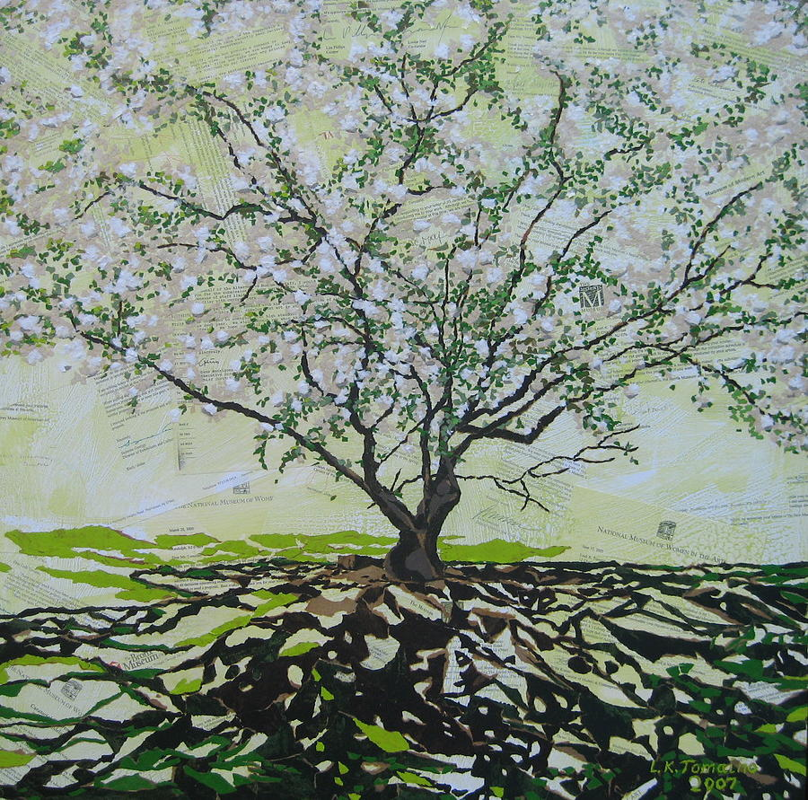 Apple Tree Painting - Sincerely-the Curator by Leah  Tomaino