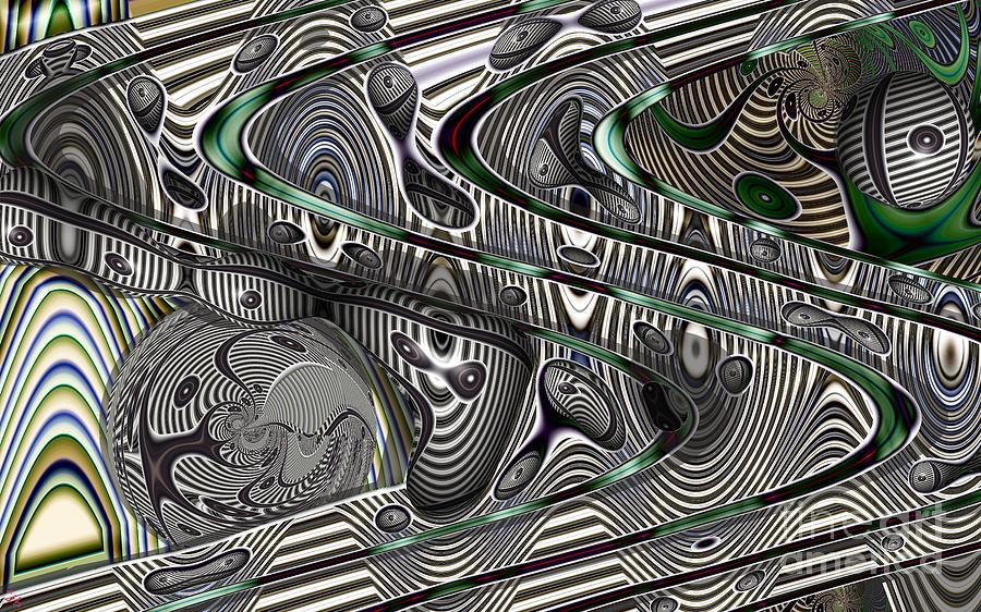 Abstract Digital Art - Sine Worlds by Ron Bissett