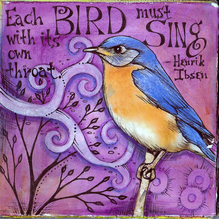 Bird Mixed Media - Sing by Vickie Hallmark