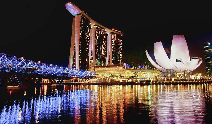 Singapore night sky  by Rochelle Berman