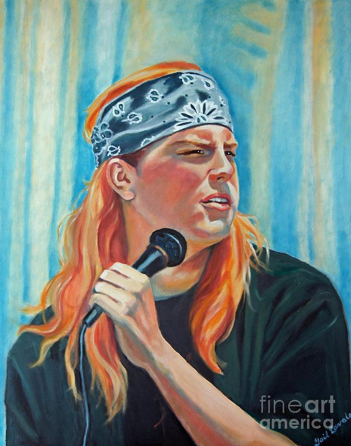 Portrait Painting - Singer For The Band by Gail Zavala