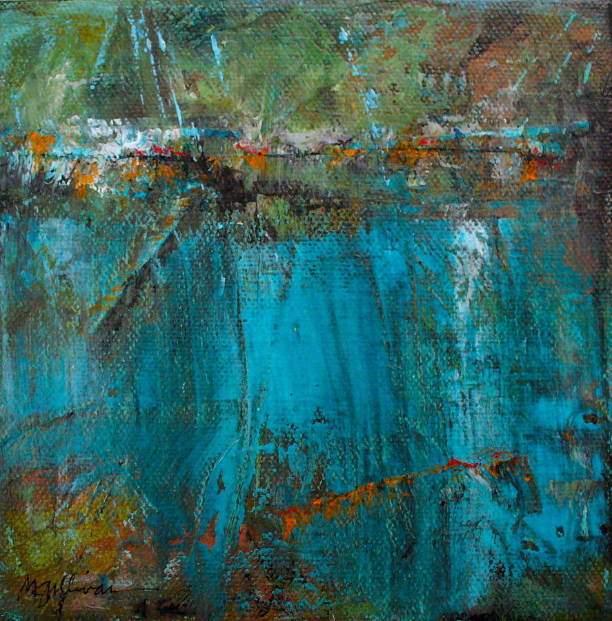 Contemporary Painting - Singin With Blues by Mary Sullivan