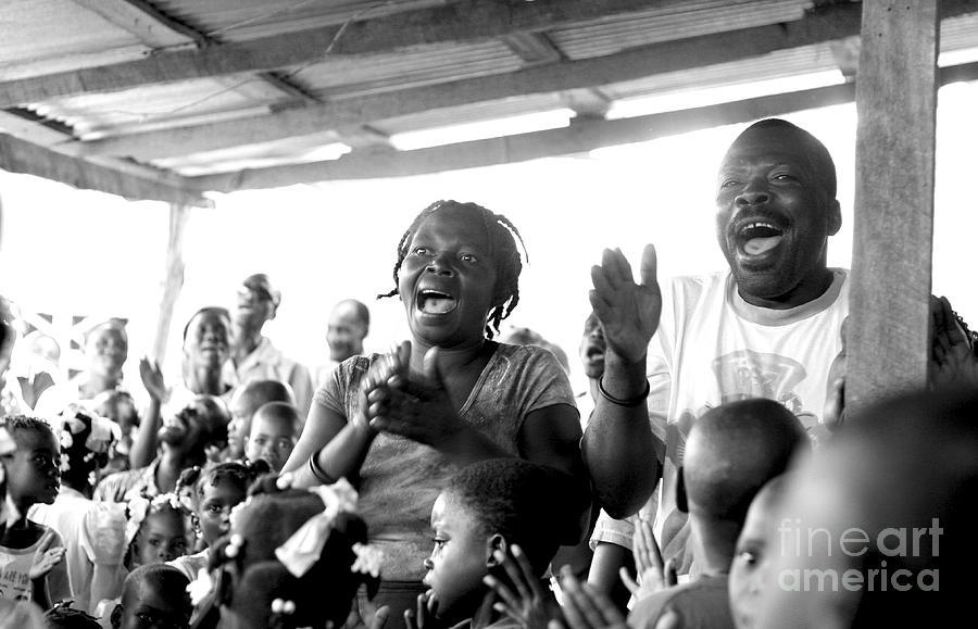 Haiti Photograph - Singing Praise by Angie Bechanan
