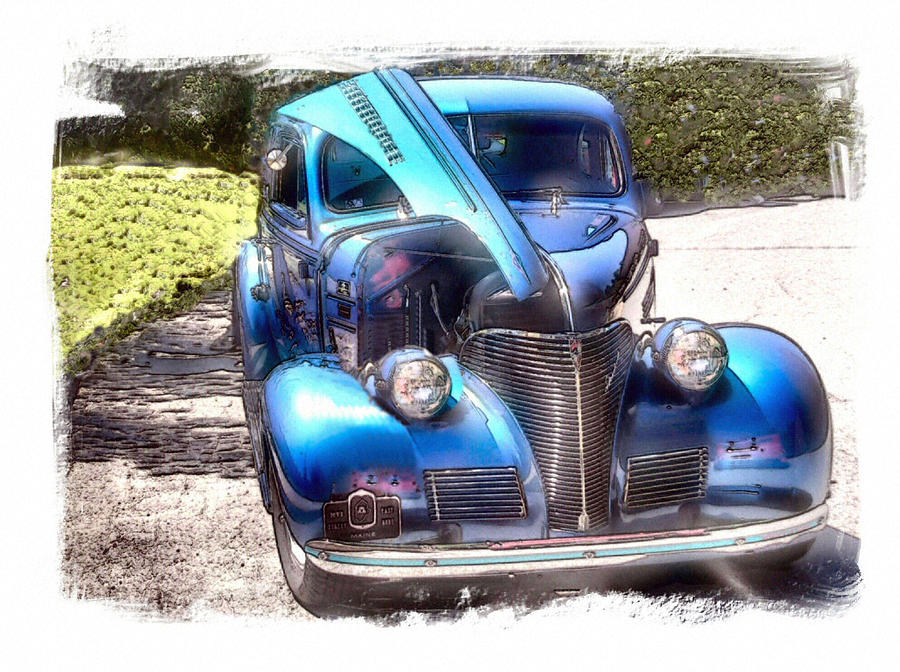 Vehicle Photograph - Singing The Blues by Rose Guay