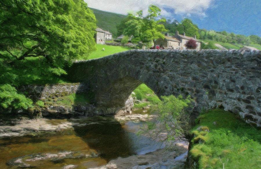 Single Painting - Single Arch Stone Bridge - P4a16018 by Dean Wittle