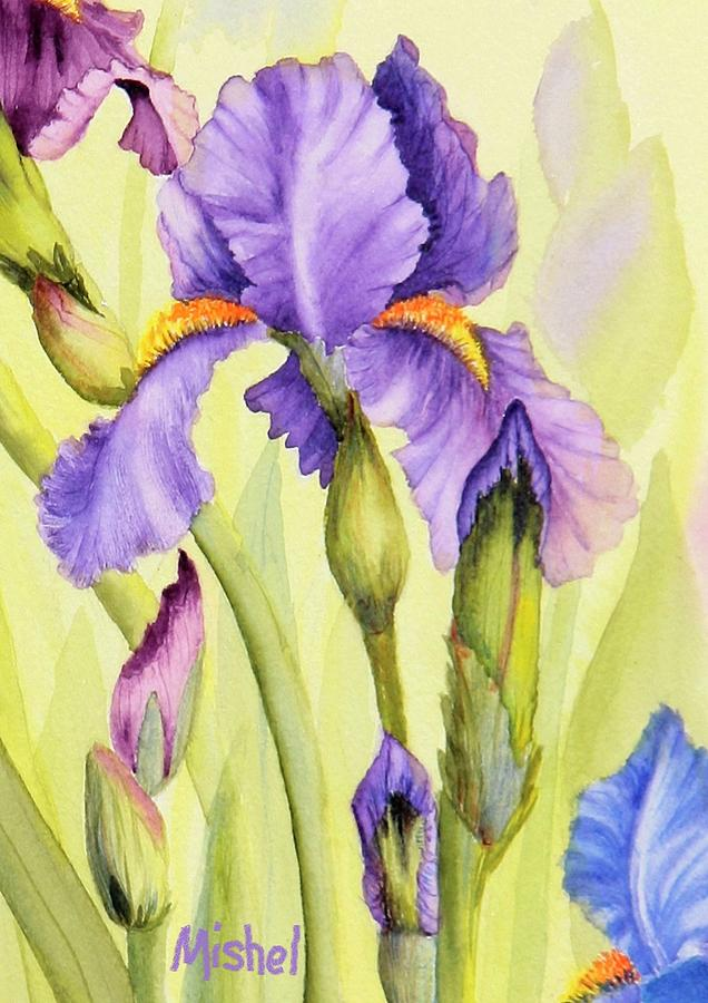 Single Iris by Mishel Vanderten