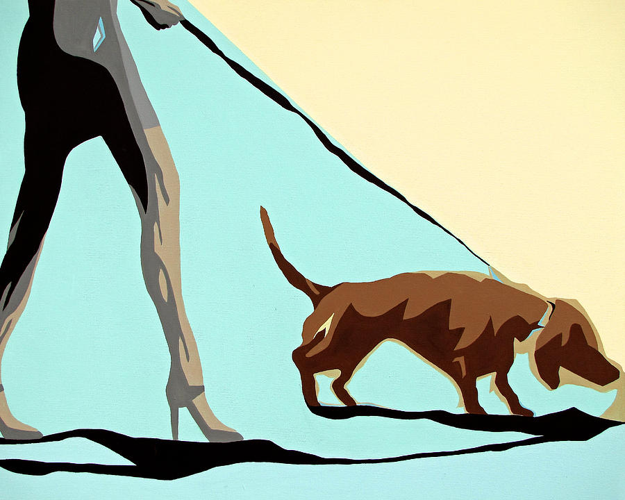 Dogs Painting - Single Lady by Slade Roberts