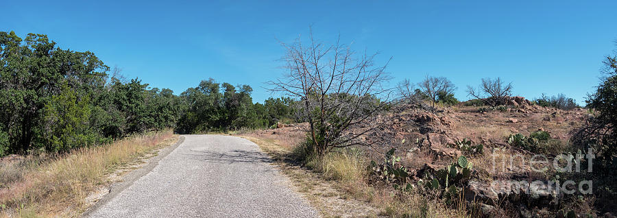 Hill Country Photograph - Single Lane Road In The Hill Country by PorqueNo Studios