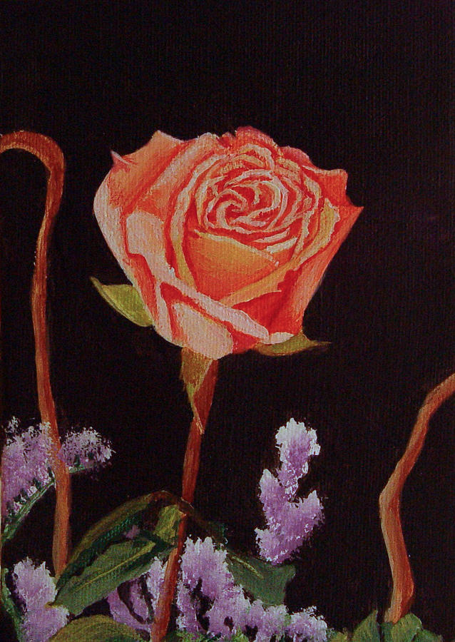 Rose Painting - Single Rose by Quwatha Valentine