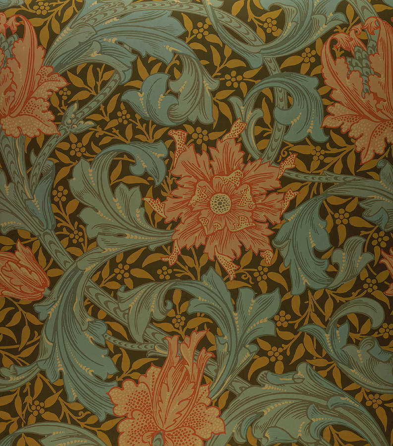 Pattern Tapestry - Textile - single Stem Wallpaper Design by William Morris