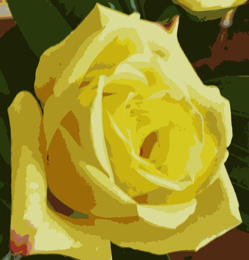 Friendship Rose Abstract by Karen J Shine