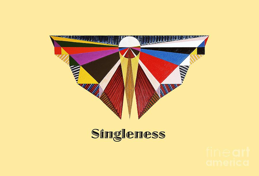 Perspectivism Painting - Singleness text by Michael Bellon