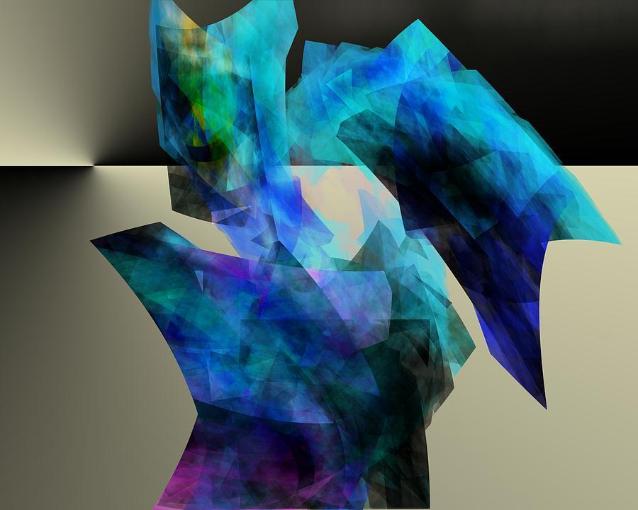 Abstract Digital Art - Singularity by David Lane