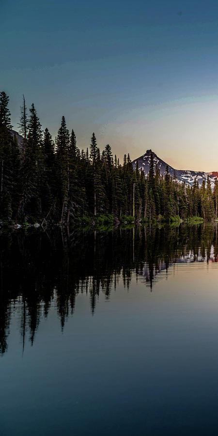 Glacier Photograph - Sinopah Sunrise Triptych 1 by Bryan Moore