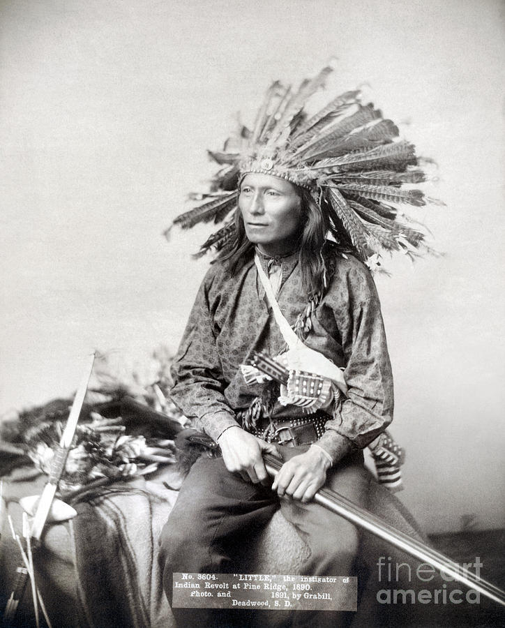 1890 Photograph - Sioux Leader, 1891 by Granger
