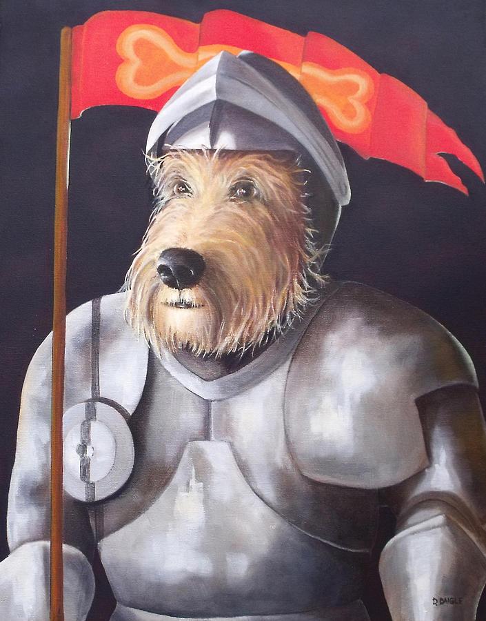 Animal Painting - Sir Barksalot by Diane Daigle
