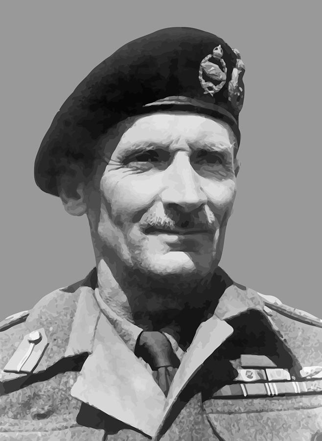 Monty Painting - Sir Bernard Law Montgomery  by War Is Hell Store