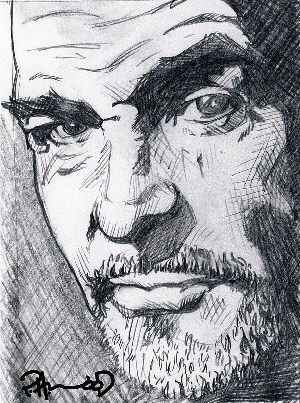 Portrait Drawing - Sir Connery by US Amazing