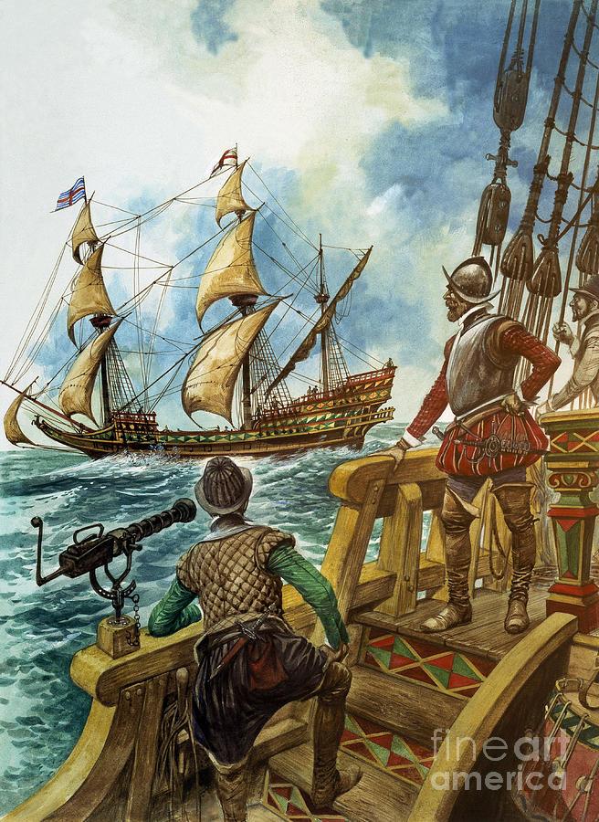 Sir Painting - Sir Francis Drake by Peter Jackson