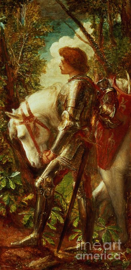 Arthur Painting - Sir Galahad by George Frederic Watts