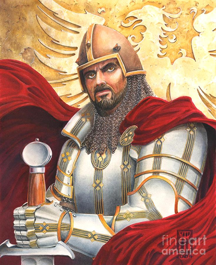 Swords Drawing - Sir Gawain by Melissa A Benson
