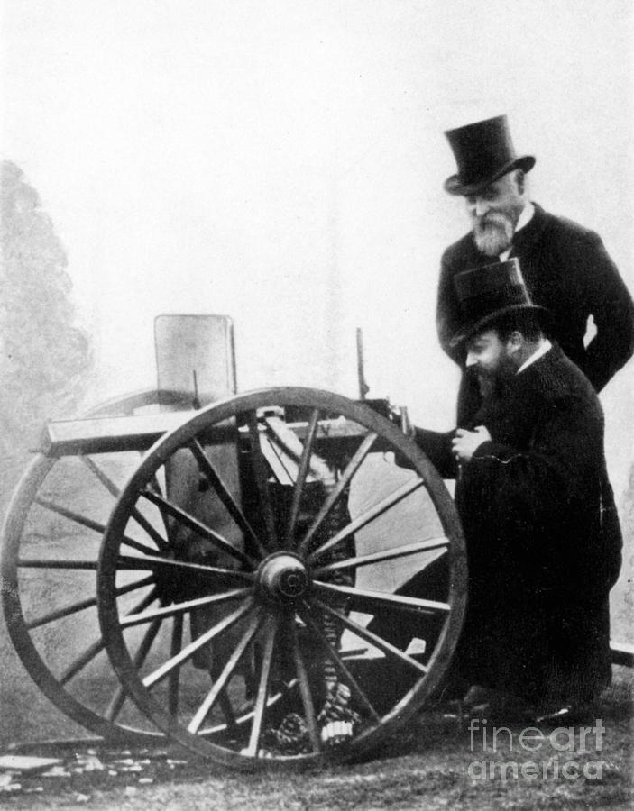 1900 Photograph - Sir Hiram Stevens Maxim by Granger