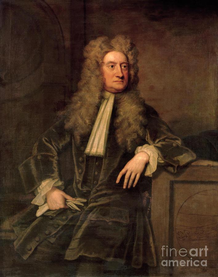 Sir Painting - Sir Isaac Newton  by Sir Godfrey Kneller
