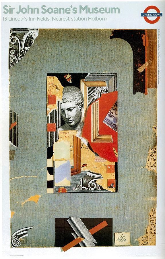 Sir John Soanes Museum - London Underground, London Metro - Retro Travel Poster - Vintage Poster Mixed Media