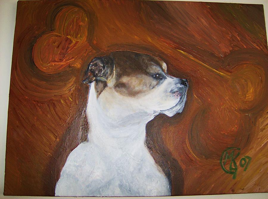 Dog Painting - Sir Maxwell by Michaela Gilt
