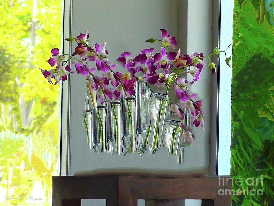 Flowers Digital Art - Sir Reel Beverly Buds 3 by Karen Francis