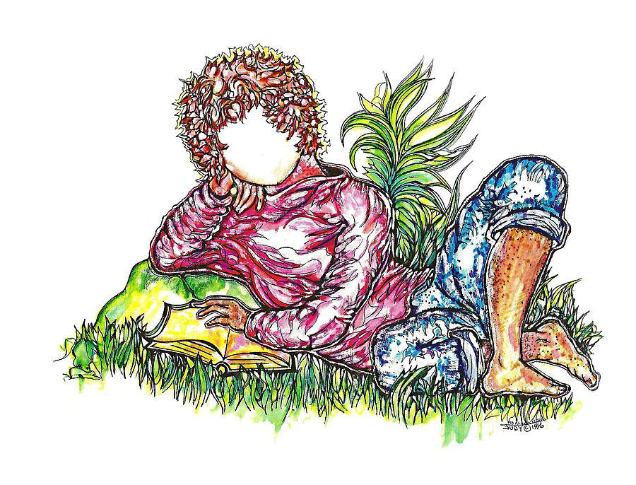 Little Boy Drawing - Sir Sage by Judith Herbert