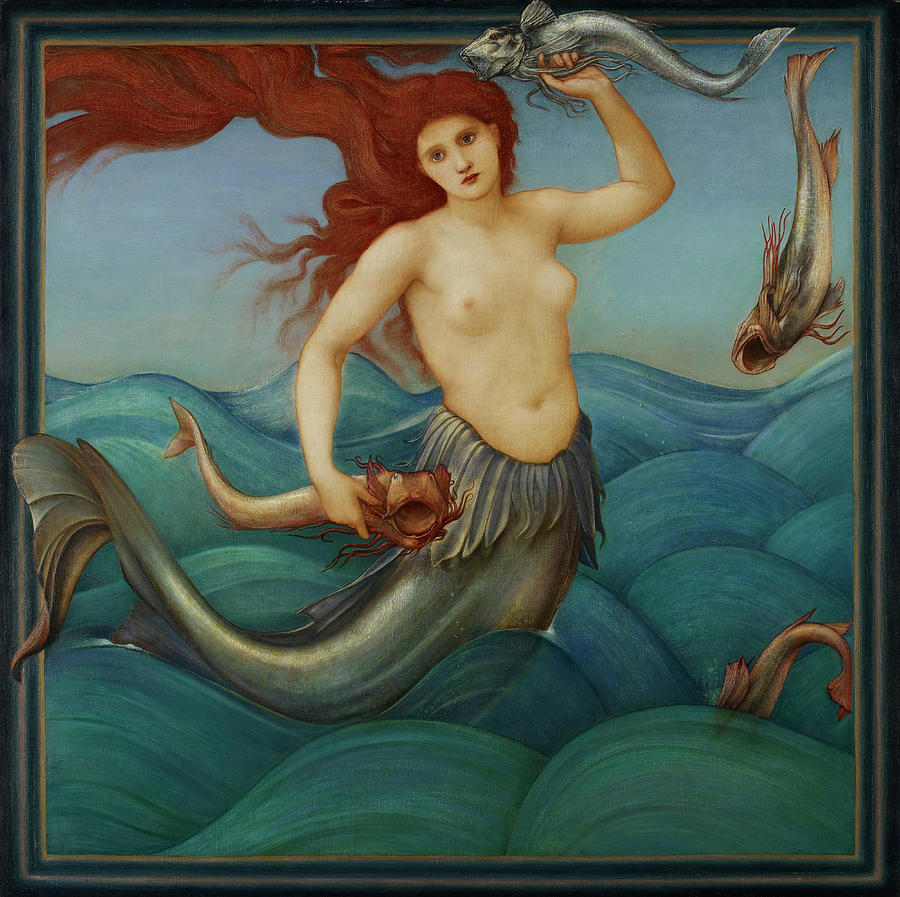 Edward Burne Jones Painting - Siren by Edward Burne Jones