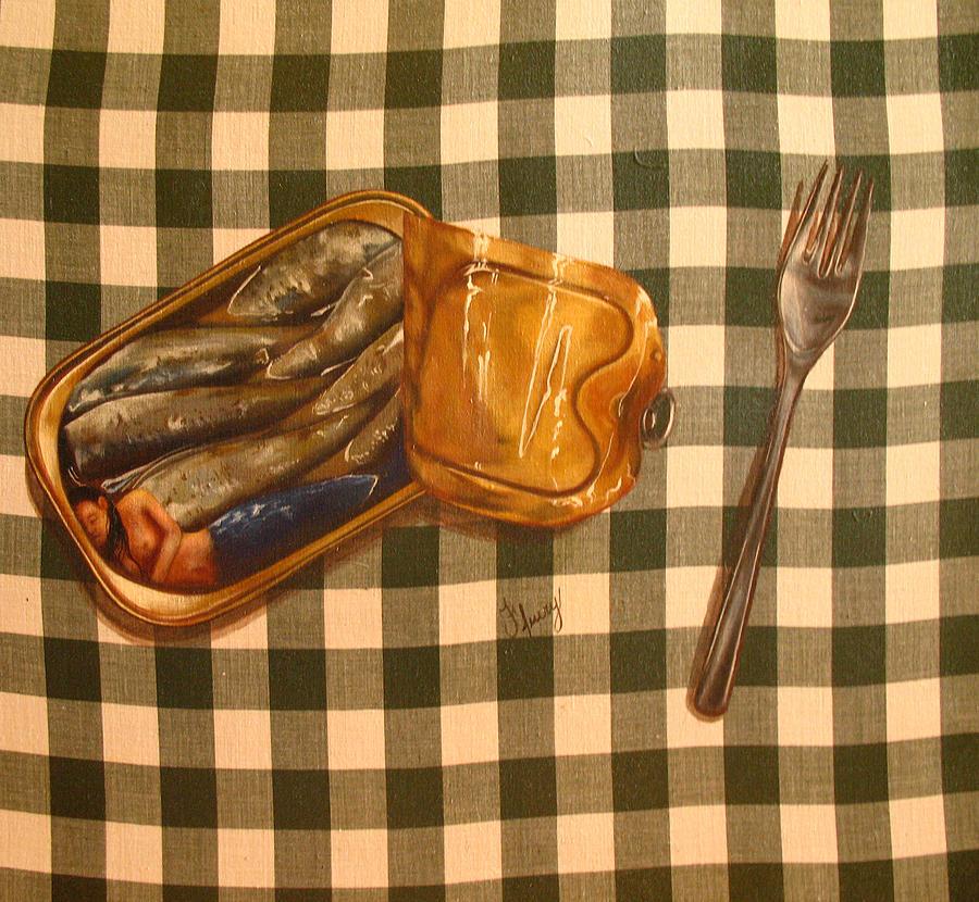 Still Life Painting - Sirene En Boite by Helene Fleury