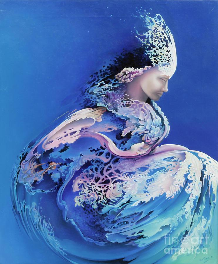 Sea Painting - Sirenetta by Symona Colina