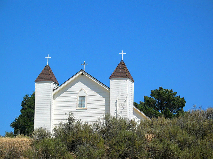 Church Photograph - Sisquoc Church by Deborah Hildinger