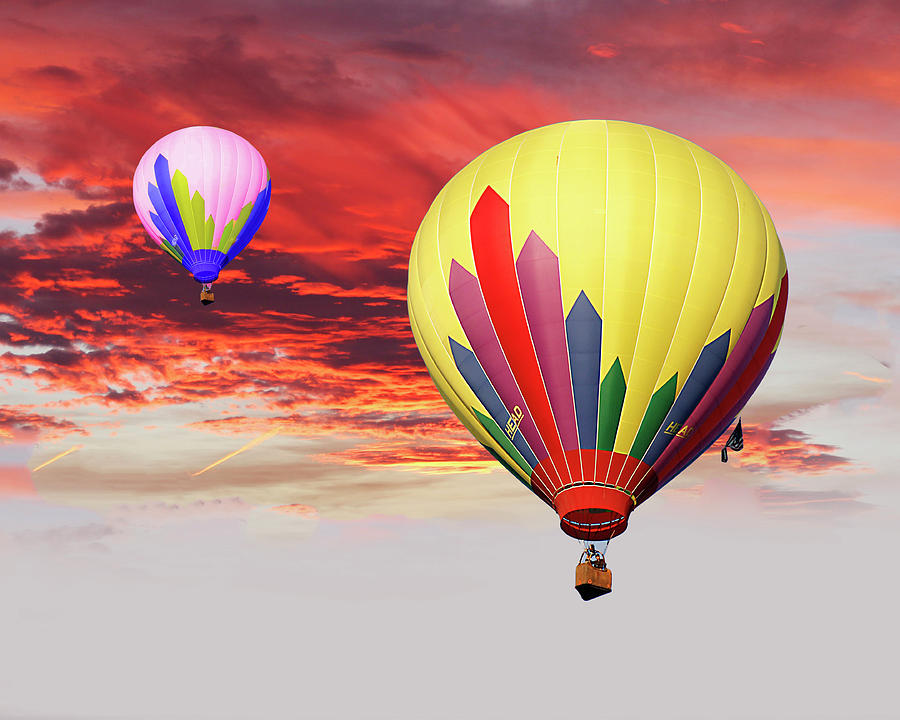 Balloons Photograph - Sister Ships by Frank Savarese
