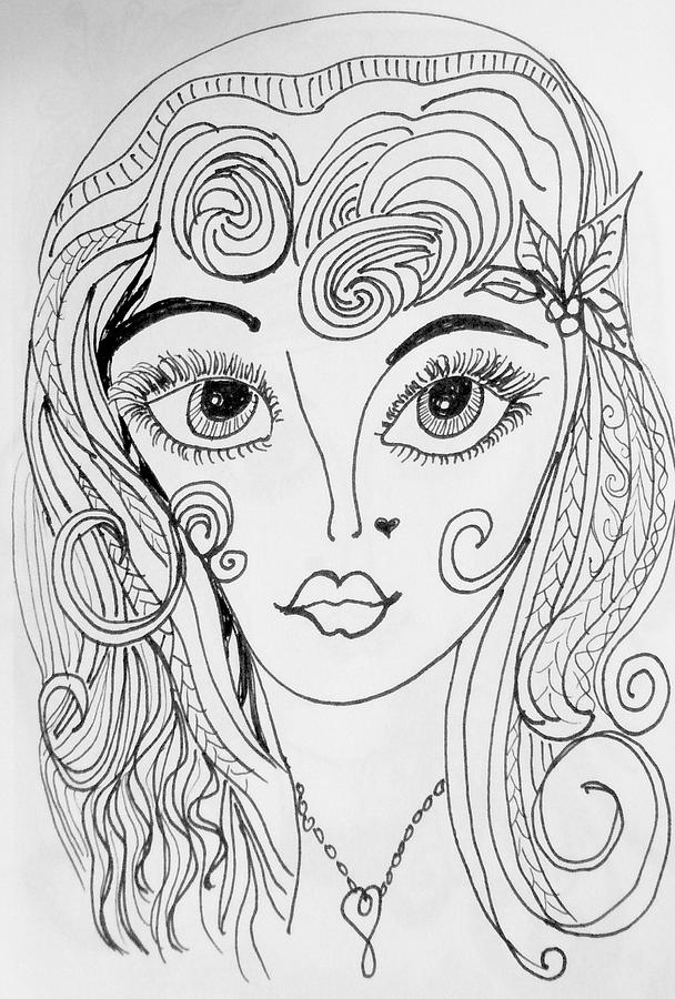 Impressionism Drawing - Sisterhood Of The Doodling Pens 4 by Jewell McChesney
