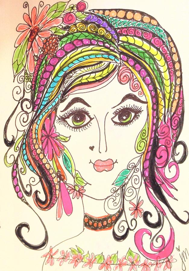 Impressionism Drawing - Sisterhood Of The Doodling Pens 5 by Jewell McChesney