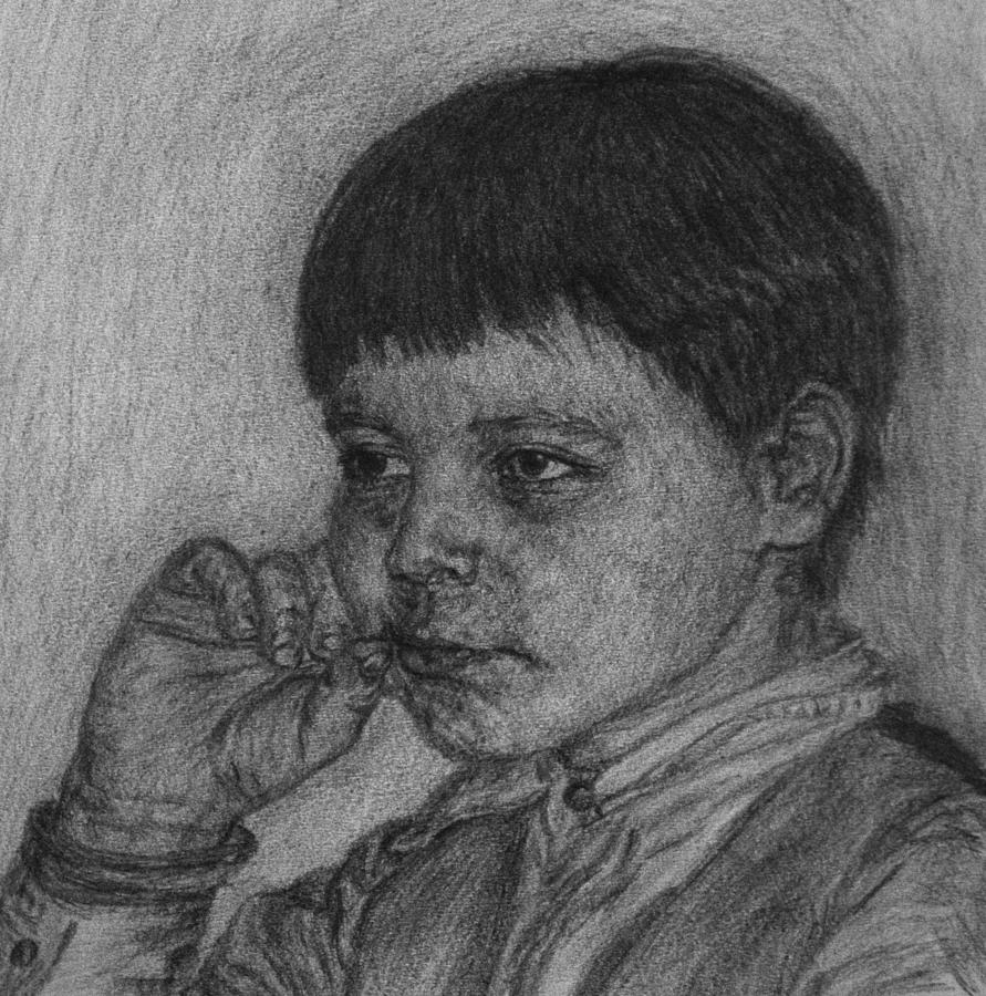 Boy Drawing - Sisters Boy by Sami Tiainen