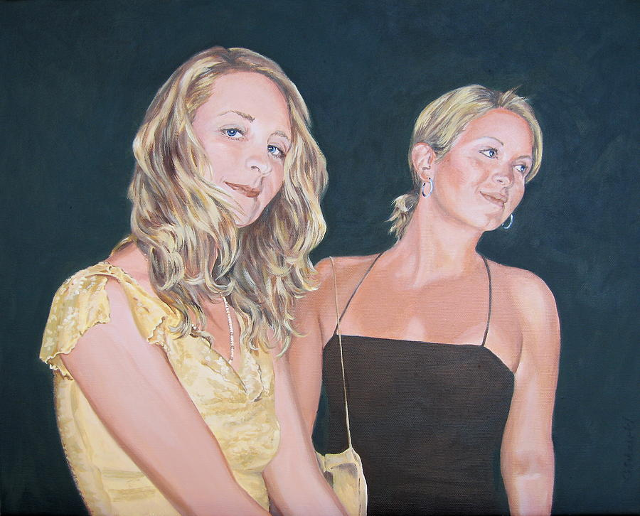 Portrait Painting - Sisters by Connie Schaertl