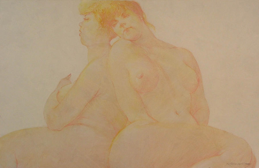 Female Nude Painting - Sisters by Gary Kaemmer