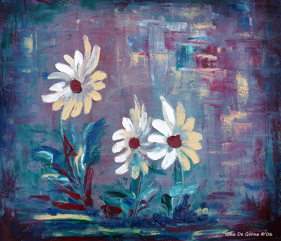 Daisies Painting - Sisters by Gina De Gorna