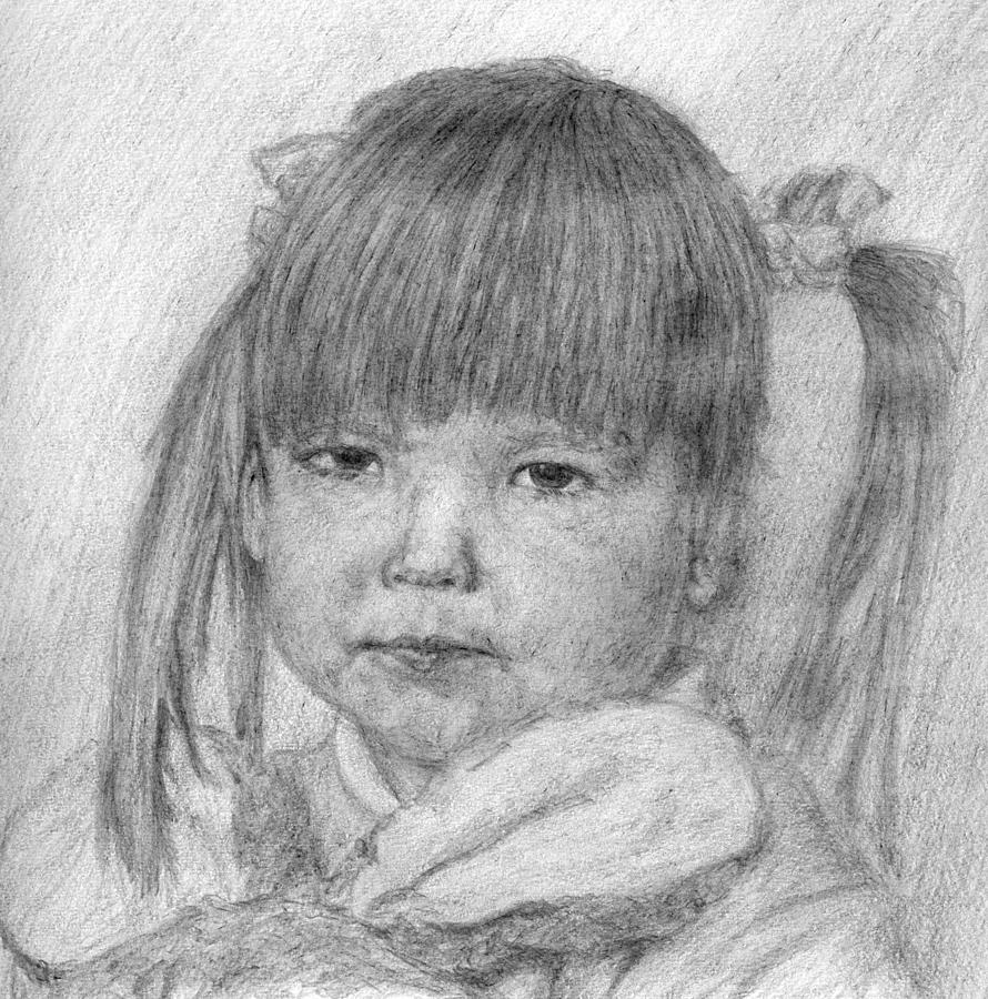 Girl Drawing - Sisters Girl by Sami Tiainen