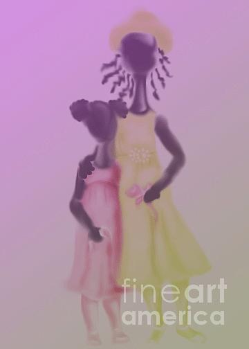 Sisters Digital Art - Sisters by Grenette Gillespie