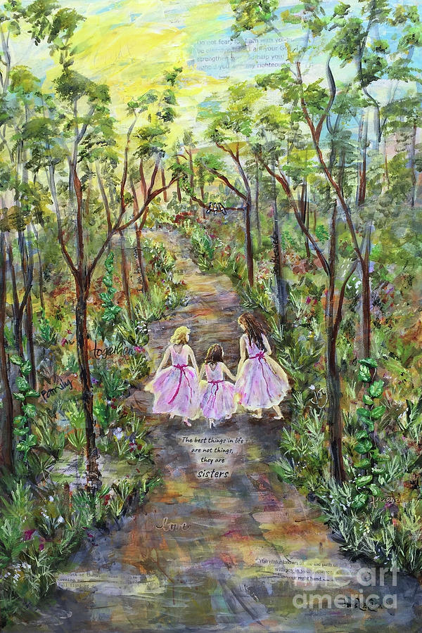 Sisters Mixed Media - Sisters by Janis Lee Colon