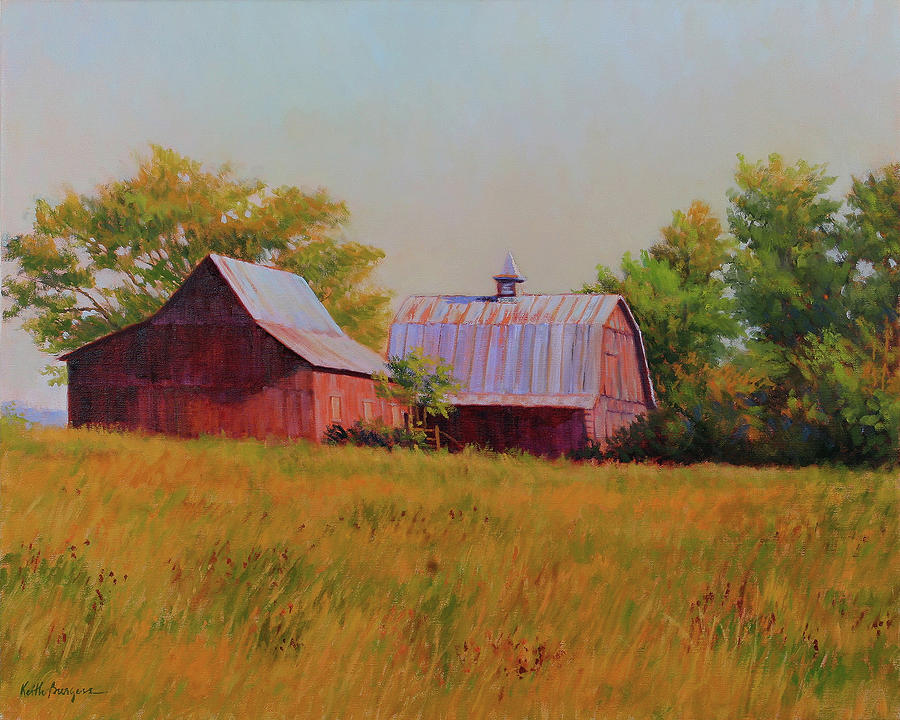 Barns Painting - Sisters by Keith Burgess