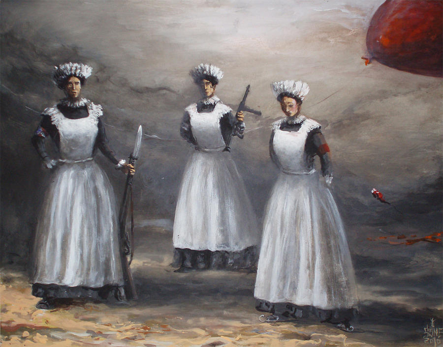sisters of merCy Painting by Serge Sunne