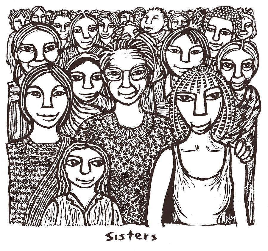 Sisters Mixed Media - Sisters by Ricardo Levins Morales