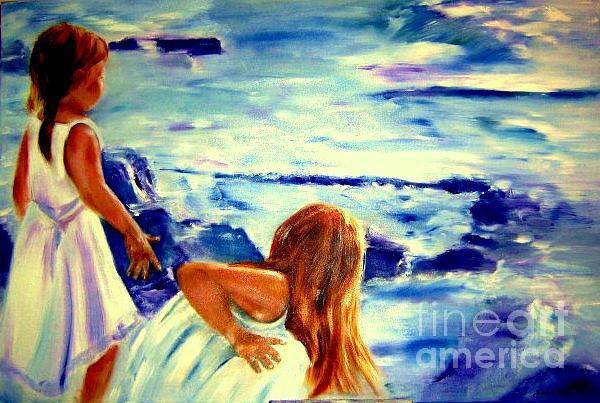 Ocean Painting - Sisters by Sandy Ryan