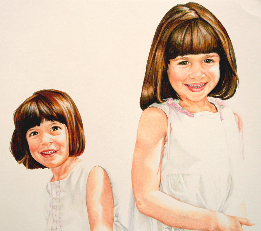 Sisters Painting by Sarah Mattison